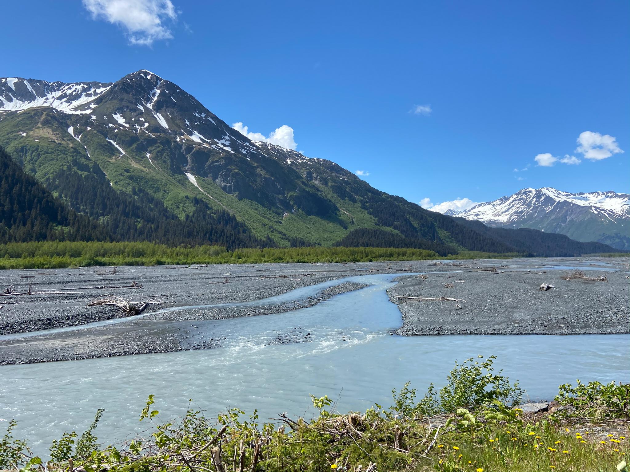 seward alaska exit glacier river