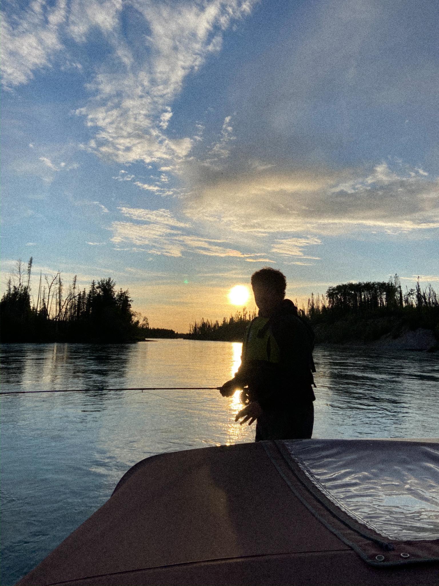kenai river sunset fly fishing